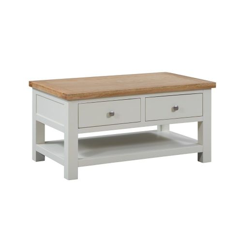 Elworth Painted Coffee Table 2 Drawers